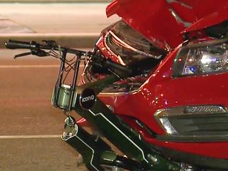 Crash with car kills woman riding scooter