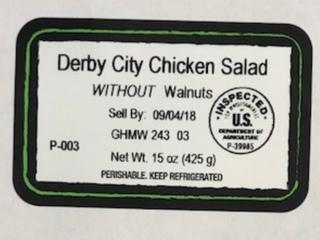Chicken salad may contain undeclared allergen