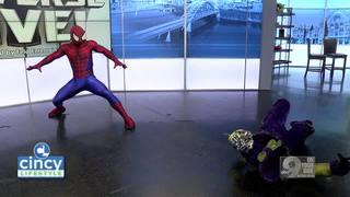 Spiderman Swings Into Cincy Lifestyle!