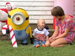 Vandals damage holiday decorations for sick boy