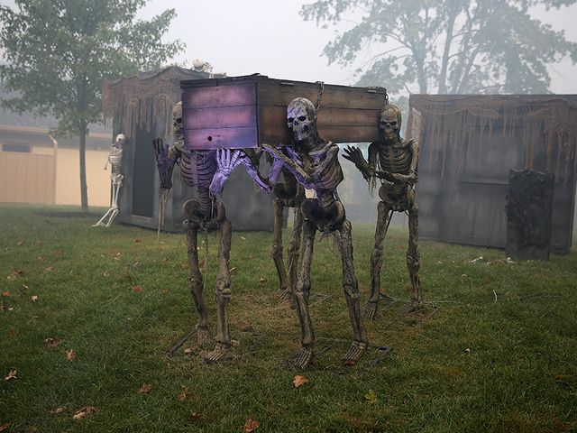 halloween decore at halloween haunt at kings island on friday september 21 2018 halloween haunt transformed kings island into a nightmare landscape