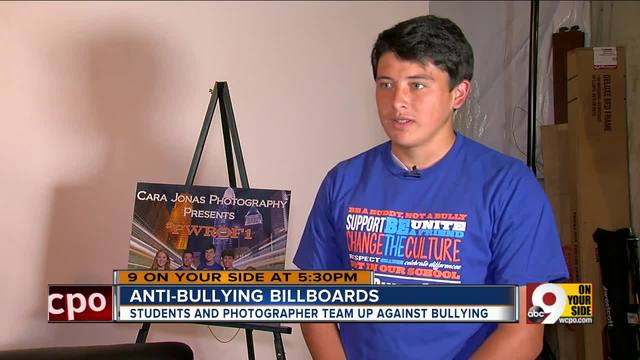 Photographer launches anti-bullying billboard campaign