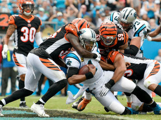 Panthers hand Bengals first loss of season