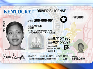 Kentucky officials unveil new driver's license