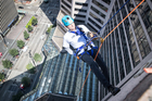 Why did this CEO rappel down The Westin?