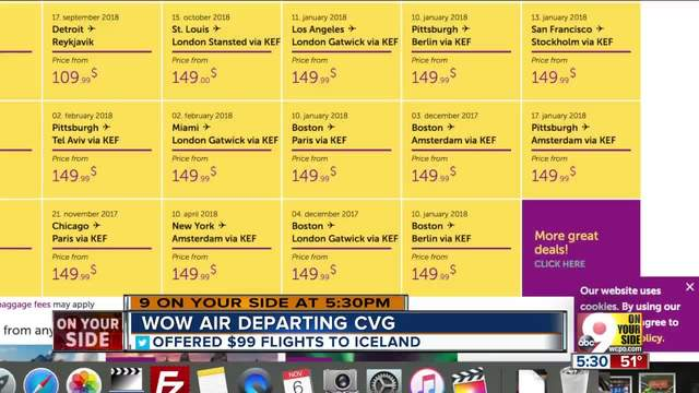 WOW Air will halt operations out of CVG after October
