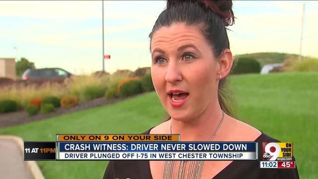 Crash witness- Driver never slowed down