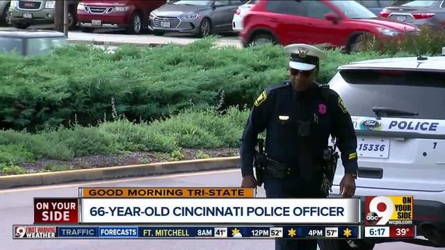 At 66- Cincinnati police officer not slowing down