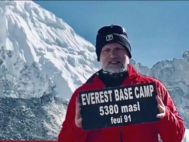 Cancer victim climbed Mount Everest for a cure