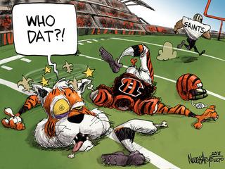 Editorial cartoon: Who dat?