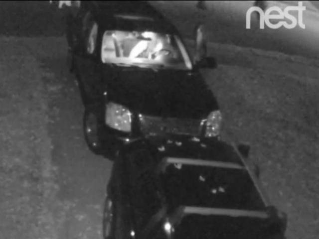 Watch car break-in on Hyde Park street